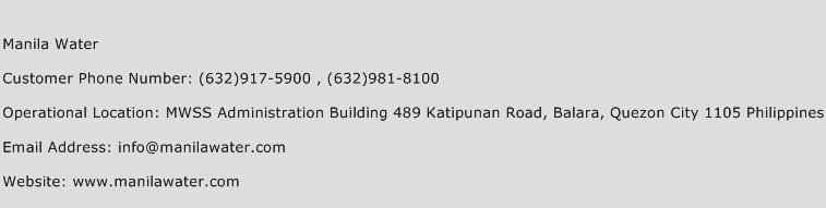 Manila Water Phone Number Customer Service