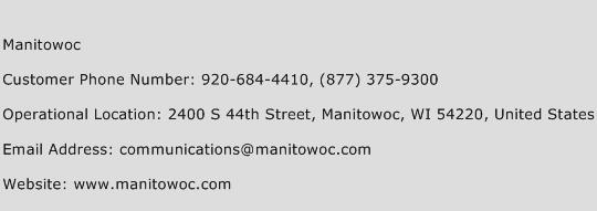 Manitowoc Phone Number Customer Service