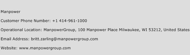 Manpower Phone Number Customer Service