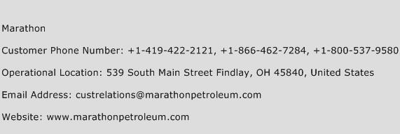 Marathon Phone Number Customer Service