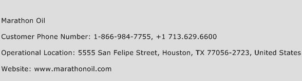 Marathon Oil Phone Number Customer Service