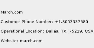 March.com Phone Number Customer Service