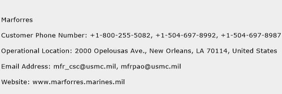 Marforres Phone Number Customer Service