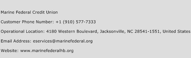 Marine Federal Credit Union Phone Number Customer Service