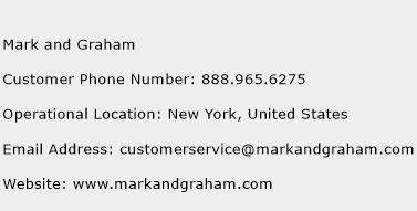 Mark and Graham Phone Number Customer Service