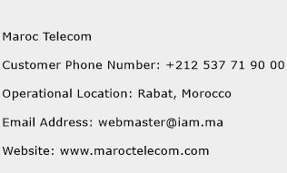 Maroc Telecom Phone Number Customer Service