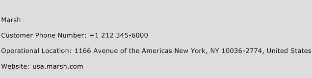 Marsh Phone Number Customer Service