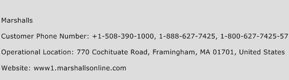 Marshalls Phone Number Customer Service