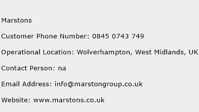 Marstons Phone Number Customer Service