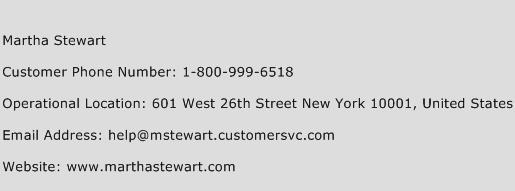 Martha Stewart Phone Number Customer Service