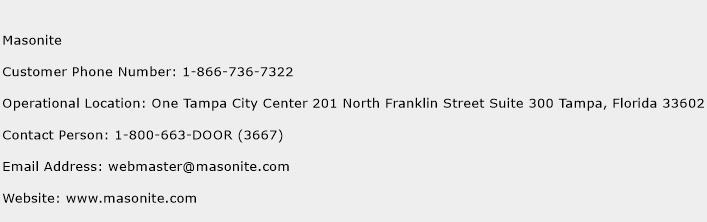 Masonite Phone Number Customer Service