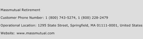 Massmutual Retirement Phone Number Customer Service