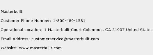 Masterbuilt Phone Number Customer Service