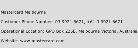 Mastercard Melbourne Phone Number Customer Service