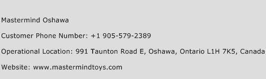 Mastermind Oshawa Phone Number Customer Service