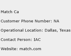 Match Ca Phone Number Customer Service