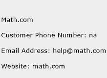 Math.com Phone Number Customer Service
