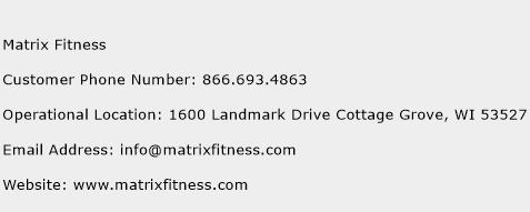 Matrix Fitness Phone Number Customer Service