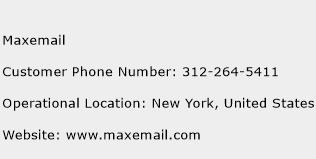 Maxemail Phone Number Customer Service