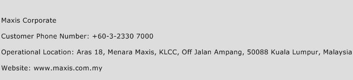 Maxis Corporate Phone Number Customer Service