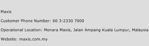 Maxis Phone Number Customer Service