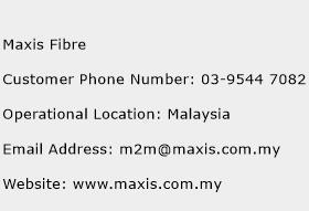 Maxis Fibre Phone Number Customer Service