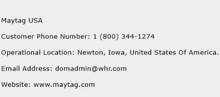 Maytag USA Phone Number Customer Service