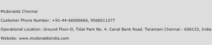 Mcdonald S Restaurants Ltd Head Office Number