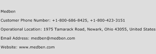 Medben Phone Number Customer Service