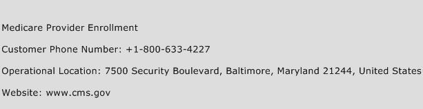 Medicare Provider Enrollment Phone Number Customer Service