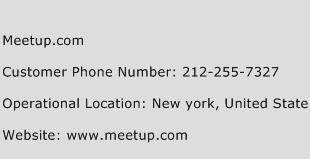 Meetup.com Phone Number Customer Service