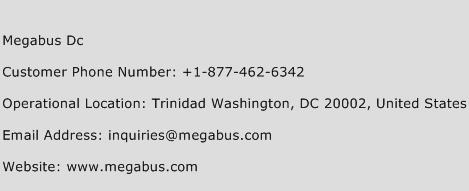 Megabus Dc Phone Number Customer Service