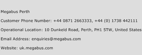 Megabus Perth Phone Number Customer Service