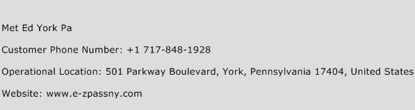 Met Ed York Pa Phone Number Customer Service