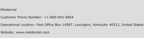 Metdental Phone Number Customer Service