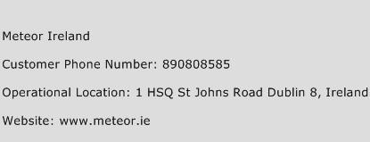 Meteor Ireland Phone Number Customer Service