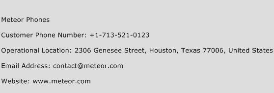 Meteor Phones Phone Number Customer Service