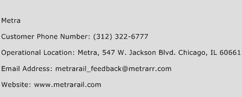Metra Phone Number Customer Service