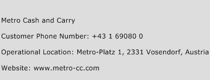 Metro Cash and Carry Phone Number Customer Service