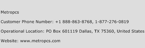 metropcs com customer service