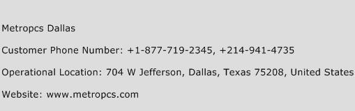Metropcs Dallas Phone Number Customer Service