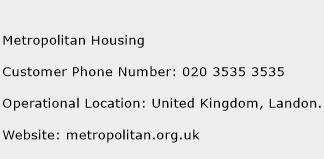 Metropolitan Housing Phone Number Customer Service