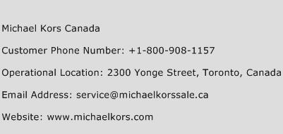 Michael Kors Canada Phone Number Customer Service