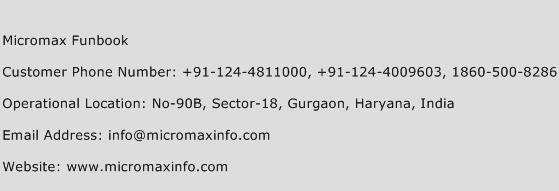 Micromax Funbook Phone Number Customer Service
