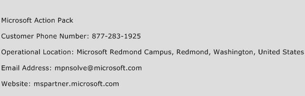 Microsoft Action Pack Phone Number Customer Service