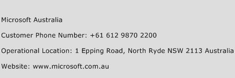 Microsoft Australia Phone Number Customer Service