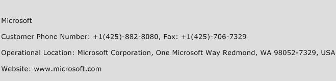 Microsoft Phone Number Customer Service