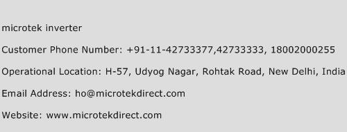 Microtek Inverter Phone Number Customer Service