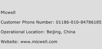 Micwell Phone Number Customer Service
