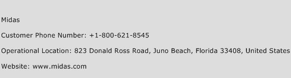 Midas Phone Number Customer Service